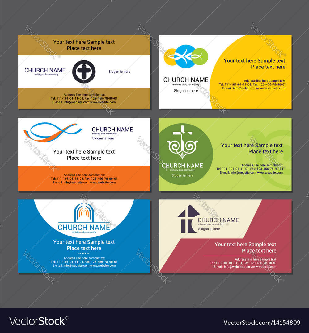 Set Christian Business Cards For The Church Intended For Christian Business Cards Templates Free