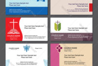 Set Christian Business Cards For The Church with Christian Business Cards Templates Free