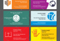 Set Christian Business Cards For The Church within Christian Business Cards Templates Free