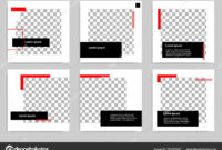Set Editable Minimal Modern Design Banner Template Black Red pertaining to College Banner Template