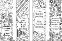 Set Of 4 Coloring Bookmarks With Quotes, Bookmark Templates with Free Blank Bookmark Templates To Print