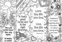 Set Of 4 Coloring Bookmarks With Quotes, Bookmark Templates with regard to Free Blank Bookmark Templates To Print