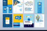Set Of Brochure Design Templates Of Education pertaining to School Brochure Design Templates