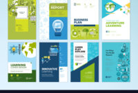Set Of Brochure Design Templates Of Education regarding Brochure Design Templates For Education