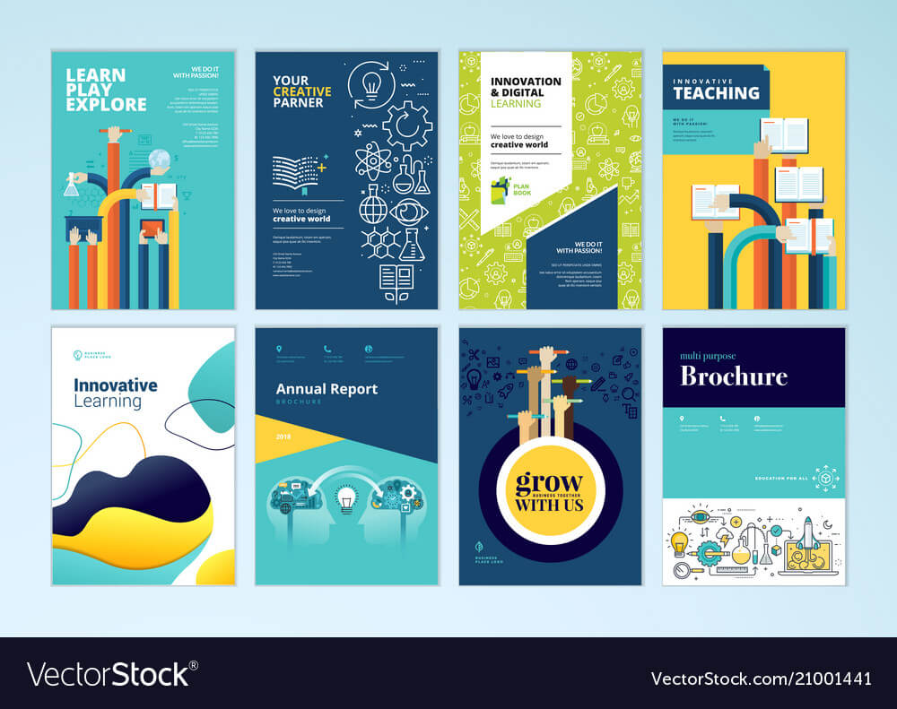 Set Of Brochure Design Templates Of Education Within Brochure Design Templates For Education