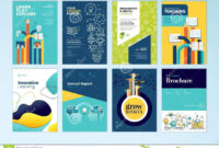 Set Of Brochure Design Templates On The Subject Of Education Inside Online Free Brochure Design Templates