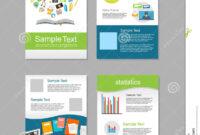 Set Of Flyer. Brochure Design Templates. Education throughout E Brochure Design Templates