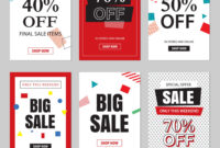 Set Of Sale Website Banner Templates within Free Online Banner Templates