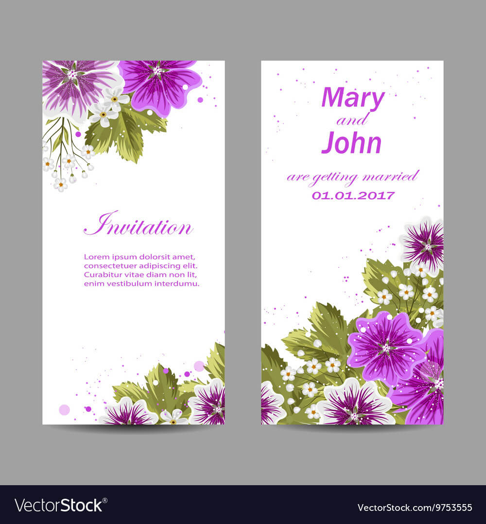Set Of Wedding Invitation Cards Design For Invitation Cards Templates For Marriage