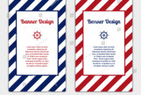Set Vector Banners Template Nautical Marine Stock Vector For Nautical Banner Template