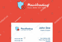 Shield Logo Design Business Card Template | Royalty-Free regarding Shield Id Card Template