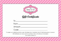 Shopping Spree Certificate Template Printable Gift Free within This Certificate Entitles The Bearer Template