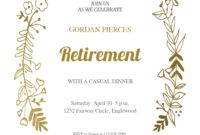 Sideside Gold – Free Retirement & Farewell Party intended for Farewell Certificate Template