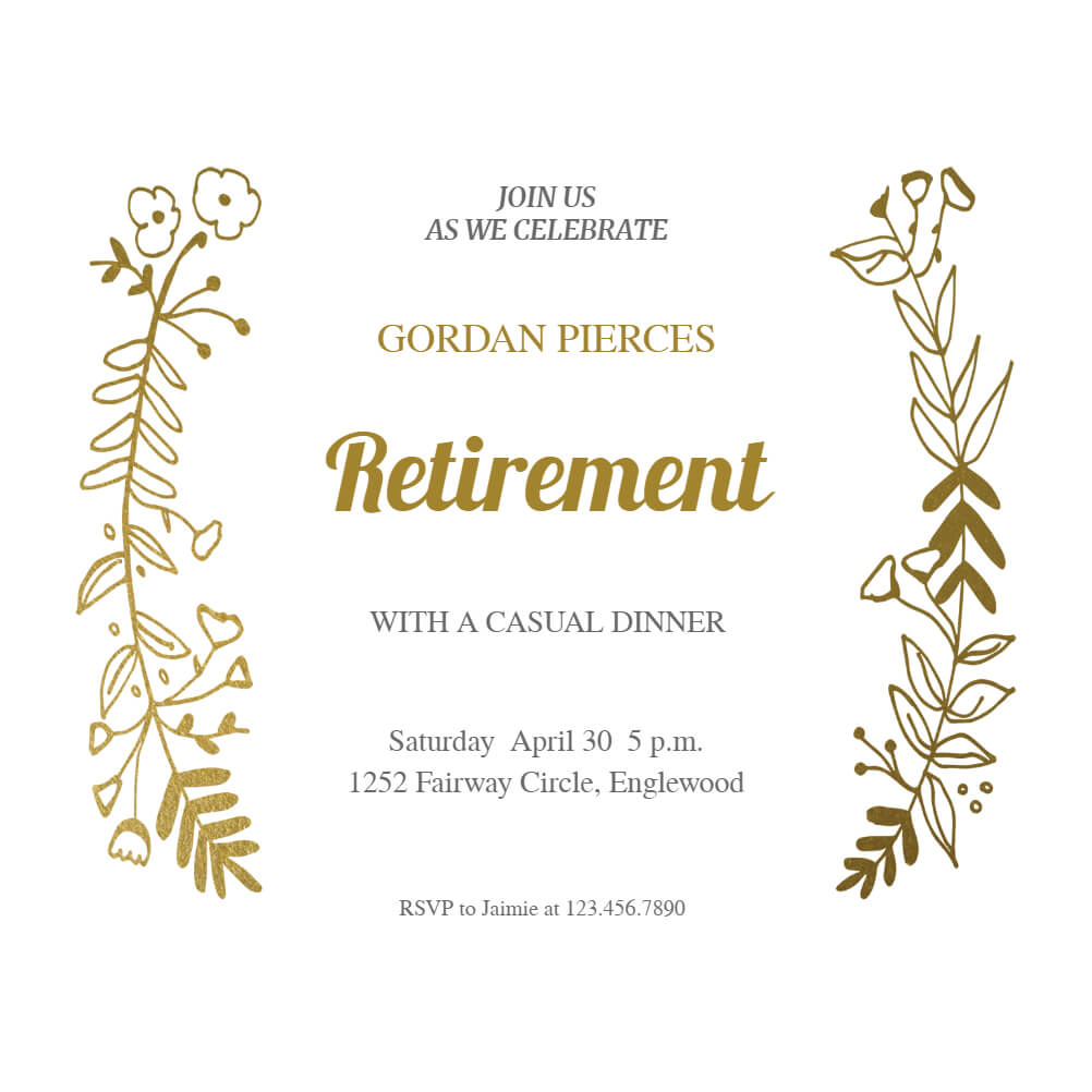 Sideside Gold - Free Retirement & Farewell Party Intended For Farewell Certificate Template