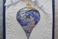 Silver & Blue Iris Folding Ornament … | Iris Paper Folding inside Iris Folding Christmas Cards Templates