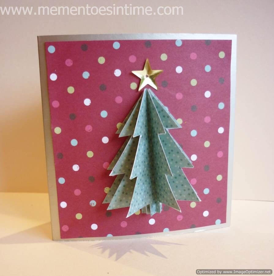 Simple 3D Christmas Card | Christmas Tree Cards, 3D Throughout 3D Christmas Tree Card Template