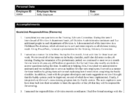 Simple Accomplishment Report Template Sample : V-M-D regarding Training Summary Report Template