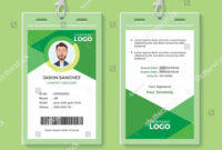 Simple And Clean Green Id Card Design Template Green#clean throughout Dope Card Template