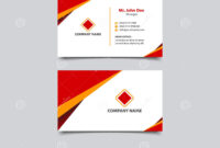 Simple And Modern Business Card Template Design Stock Vector within Modern Business Card Design Templates