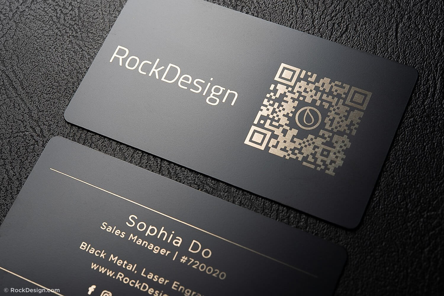 Simple Black Metal Business Cards – Sophia Do In Qr Code Business Card Template