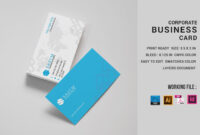 Simple Corporate Business Card Design Template Throughout Business Card Template Size Photoshop