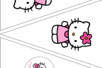 Simple Cute Hello Kitty Free Printable Kit. – Oh My Fiesta within Hello Kitty Banner Template