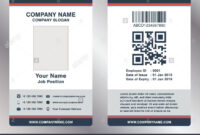 Simple Employee Business Name Card Template Vector Stock in Work Id Card Template