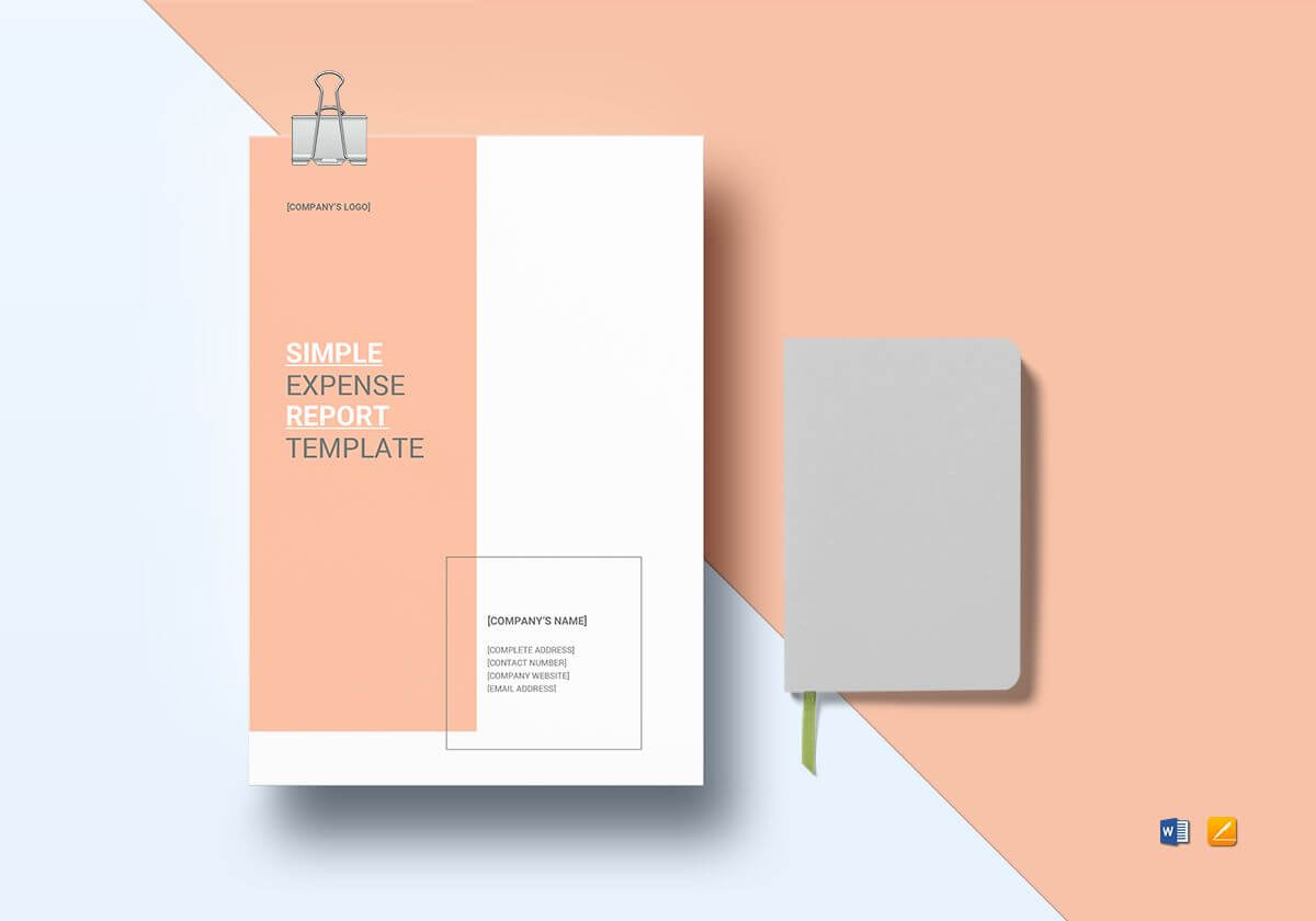 Simple Expense Report Template With Simple Report Template Word