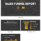Simple Sales Funnel Report Inside Sales Funnel Report Template