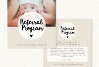 Simple Salon Customer Referral Card. Maa Resident Referral intended for Referral Card Template