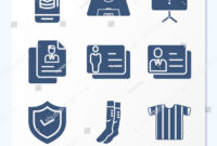 Simple Set 9 Icons Related Template | Royalty-Free Stock Image with regard to Shield Id Card Template