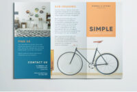 Simple Tri Fold Brochure | Free Indesign Template With Indesign Templates Free Download Brochure