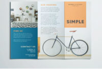 Simple Tri Fold Brochure | Indesign Brochure Templates throughout One Page Brochure Template
