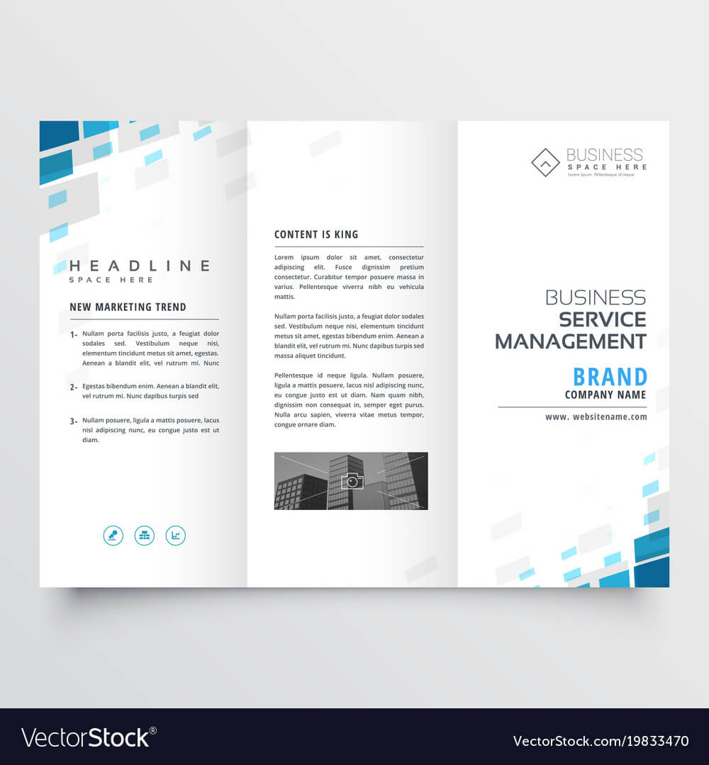 Simple Trifold Business Brochure Template Design Regarding One Page Brochure Template