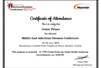 Simplecert Certificates Of Attendance inside Certificate Of Attendance Conference Template