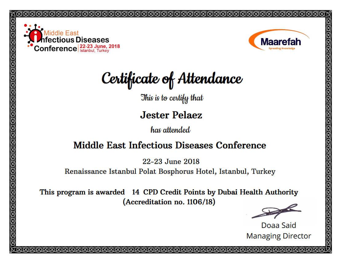 Simplecert Certificates Of Attendance Inside Certificate Of Attendance Conference Template