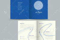 Simplicity Half-Fold Brochure Template Design With Geometric.. intended for Half Page Brochure Template