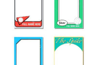 Singular Trading Card Template Free Ideas Generator Maker pertaining to Free Trading Card Template Download
