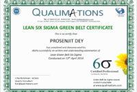 Six Sigma Black Belt Certificate Template – Carlynstudio in Green Belt Certificate Template