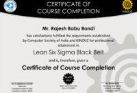 Six Sigma Black Belt Certificate Template – Carlynstudio inside Green Belt Certificate Template