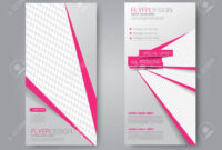 Skinny Flyer Or Leaflet Design; Set Of Two Side Brochure Template.. Throughout One Sided Brochure Template