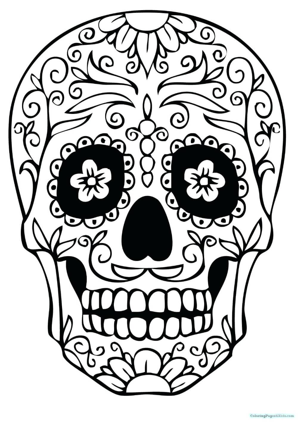 Skull Stencils Free Printable – Shakeprint.co Pertaining To Throughout Blank Sugar Skull Template