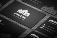 Sleek Real Estate Business Card – Full Preview | Free within Real Estate Business Cards Templates Free