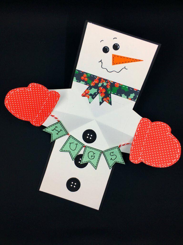 Snowman Twist And Pop Card   Pop Up Christmas Cards, Diy Inside Diy Christmas Card Templates