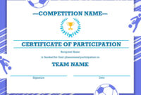 Soccer Award Certificates – Kids Learning Activity pertaining to Soccer Award Certificate Template