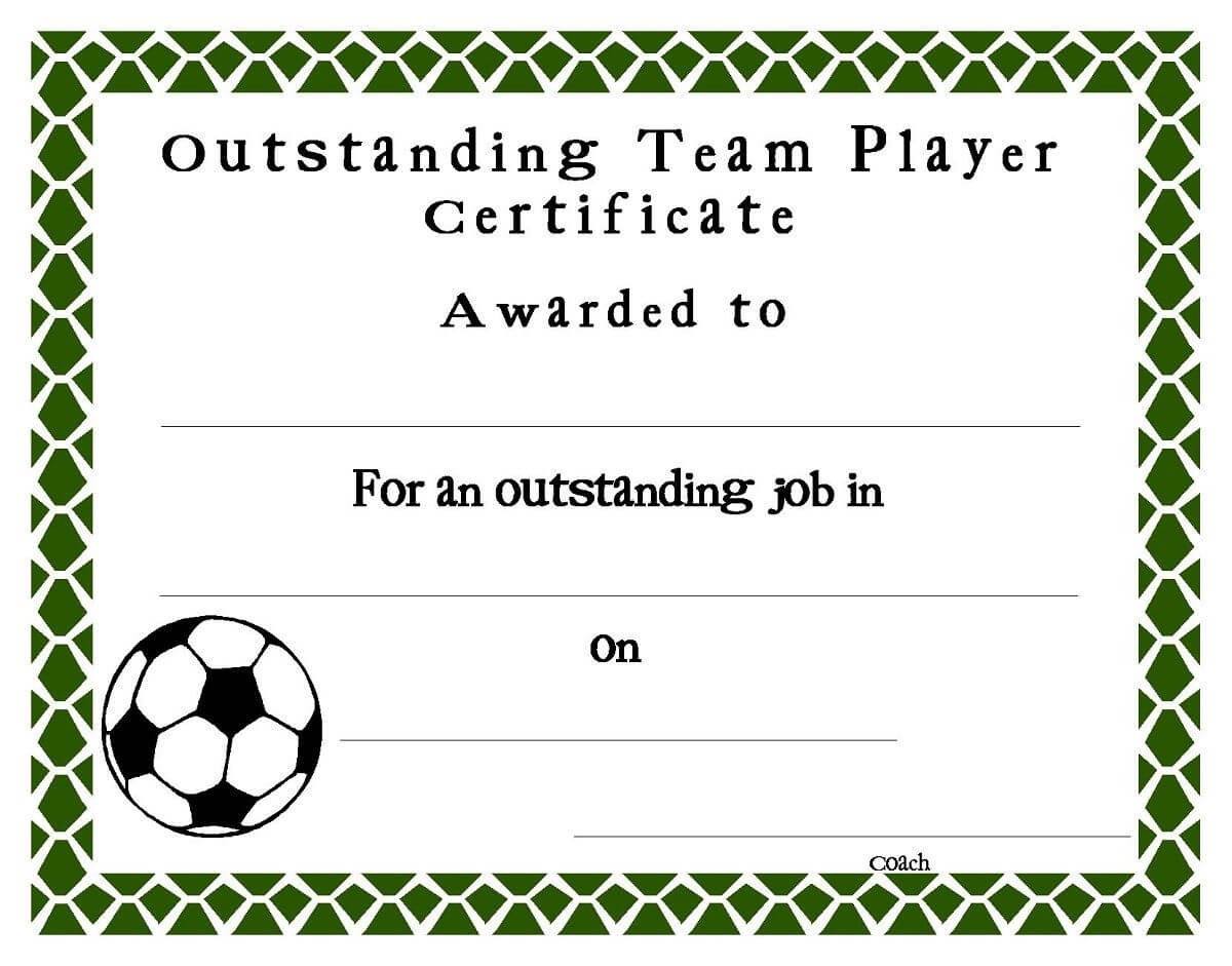 Soccer Award Certificates Template | Kiddo Shelter Within Soccer Certificate Template