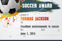 Soccer Certificate Template Football Ball Icon Stock Vector for Soccer Certificate Template