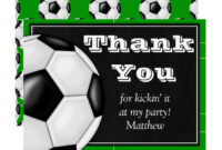 Soccer Thank You Card For Soccer Players | Zazzle pertaining to Soccer Thank You Card Template