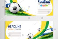 Soccer Tournament Modern Sport Banner Template Stock Vector for Sports Banner Templates