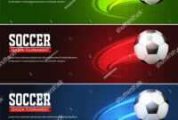 Soccer Tournament Modern Sport Banner Template Stock Vector with Sports Banner Templates